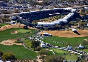 TPC Scottsdale 16th hole aerial photograph