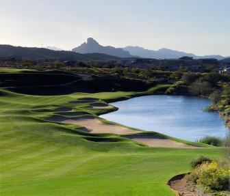 #18 hole at Eagle Mountain Golf Club in Fountain Hills, Arizona