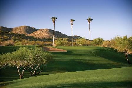 finishing hole #18 at Rancho de los Caballeros Golf Club in Wickenburg, Arizona