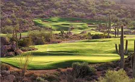 Hole #4 at SunRidge Canyon Golf Club in Fountain Hills, Arizona